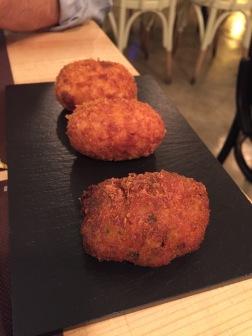 Croquetas de pollo y verduras